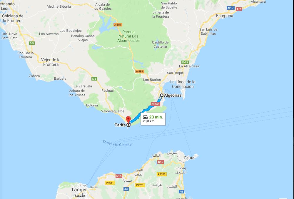 Van Algeciras naar Tarifa – Route N340