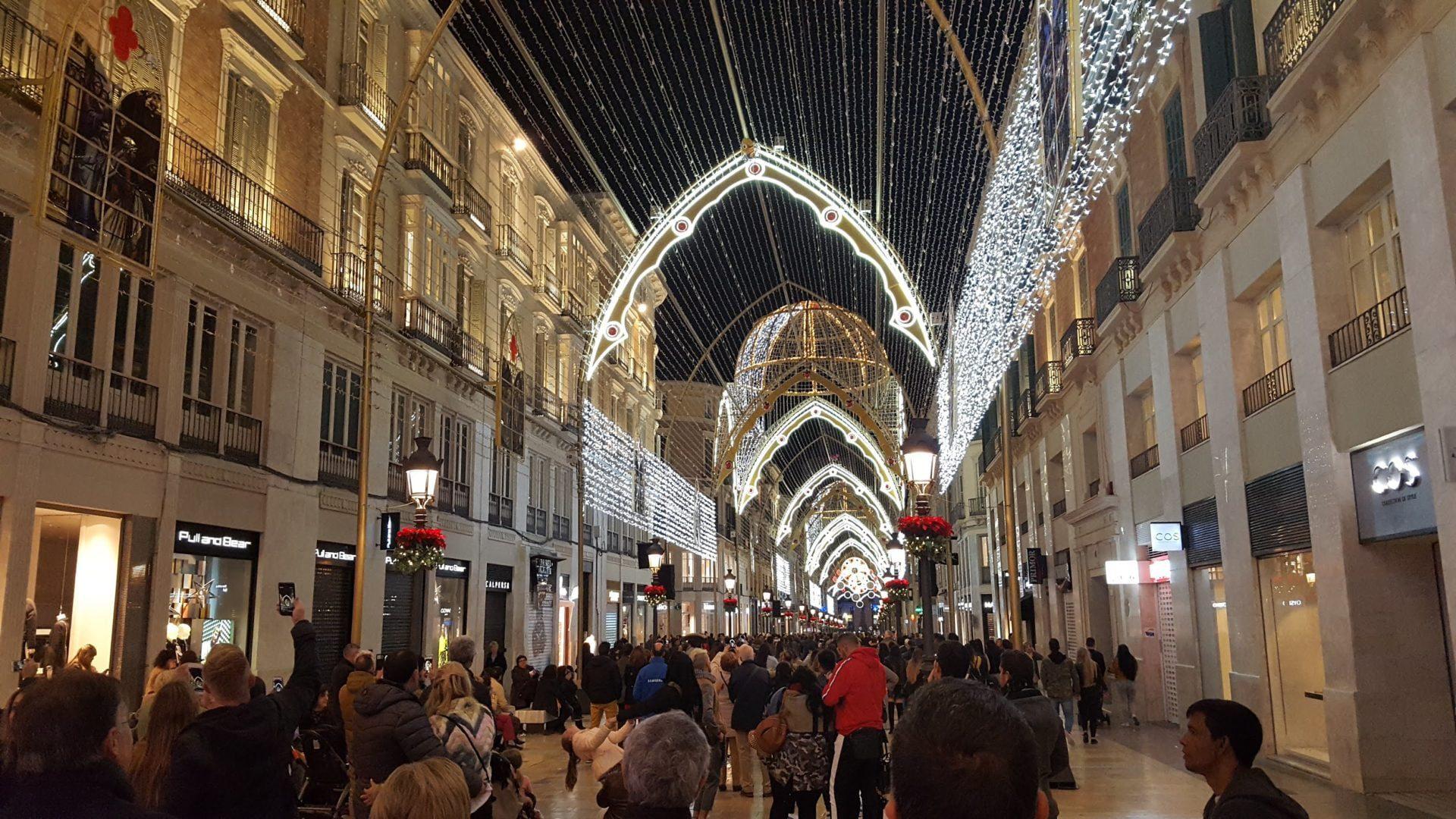 Málaga in kerstsfeer