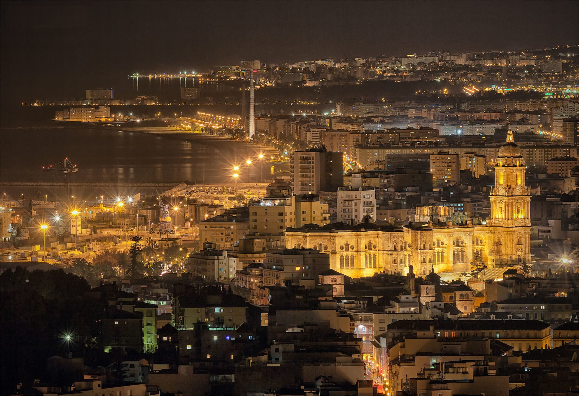De lichte dagen voor kerst in Málaga
