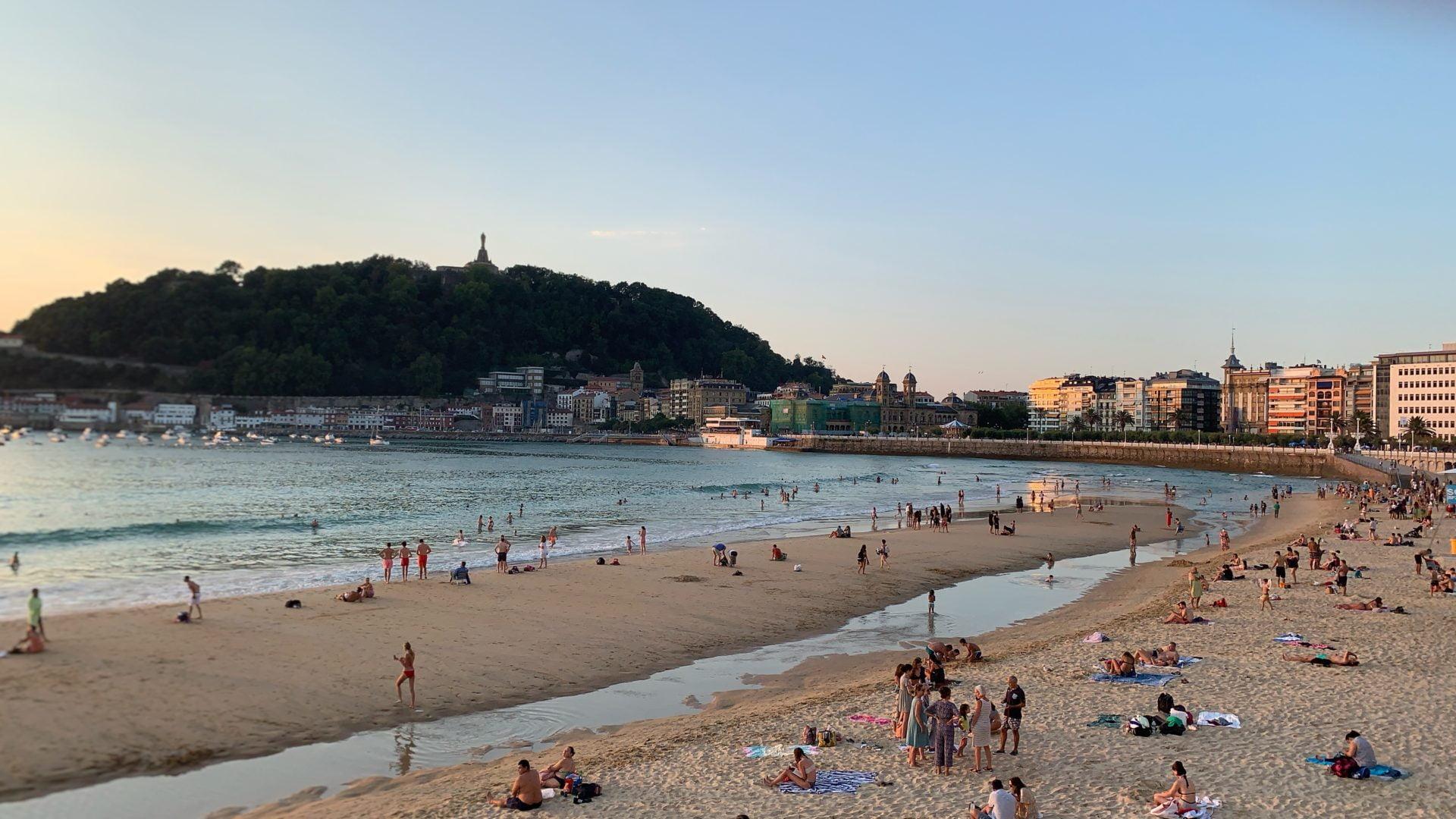 Naar het strand in San Sebastián
