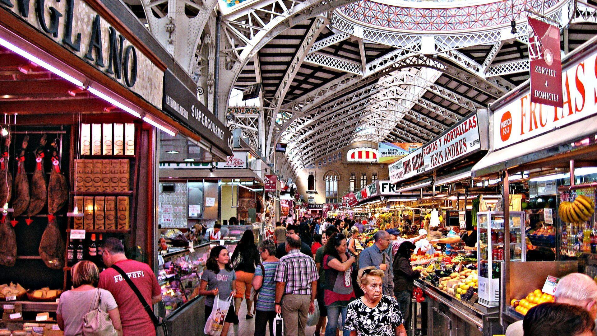 Kijk je ogen uit in de 3 grootste mercados van Valencia