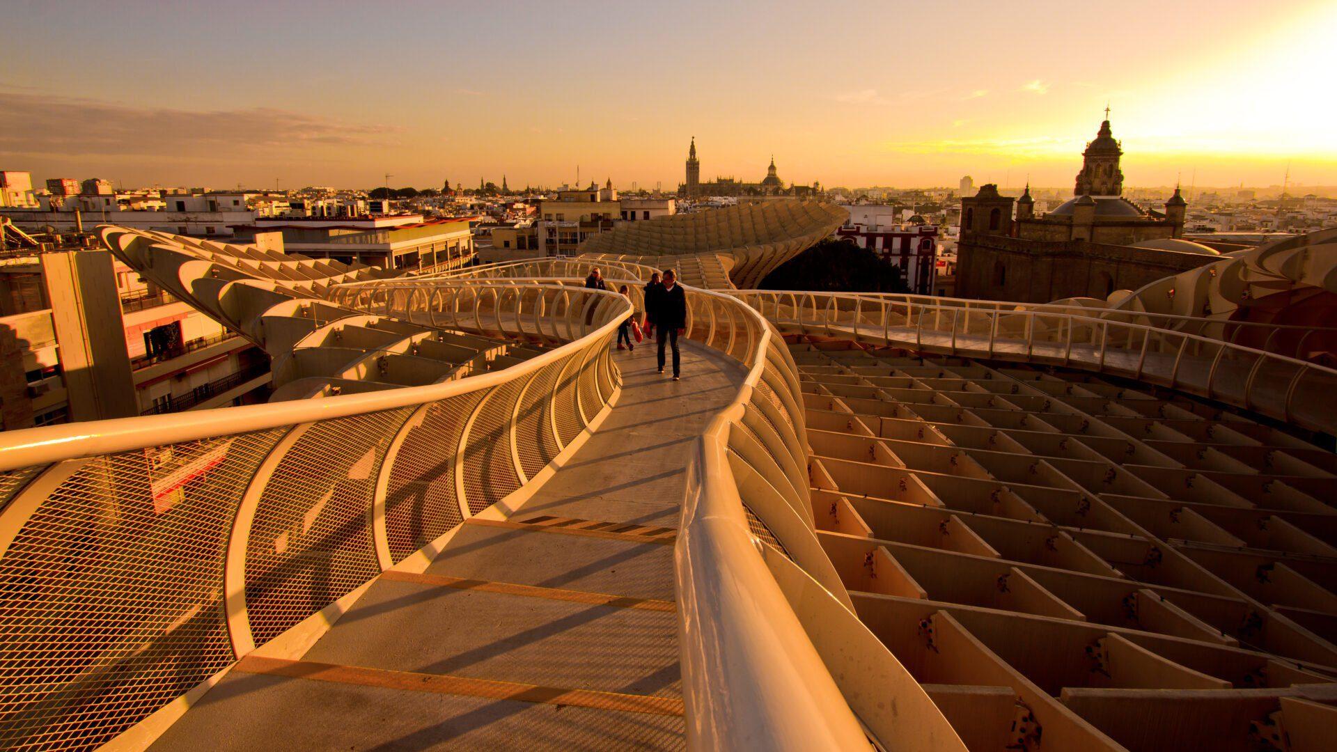 Uitzicht op Sevilla vanaf Metropol Parasol