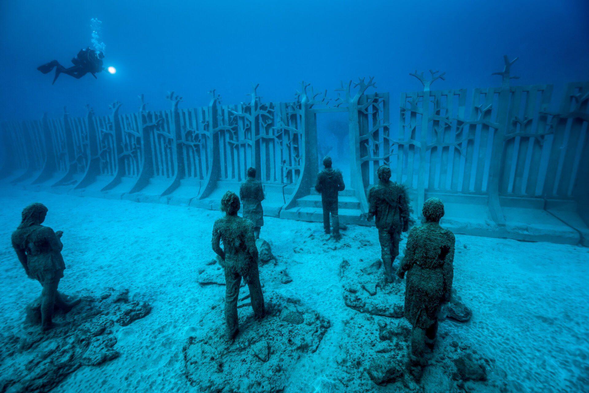 Onder water naar een museum – Het kan op Lanzarote
